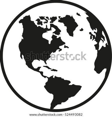 Globe planet earth america south and north