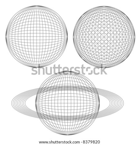 Globe spheres and rings.