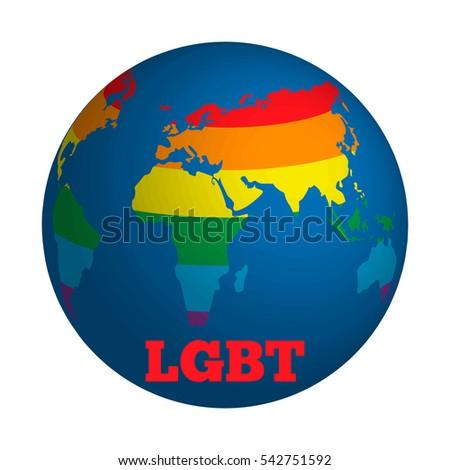 Globe stylized world rainbow gay lesbian stock vector 542751592 globe stylized world with rainbow gay and lesbian equality symbol flyer poster layout gumiabroncs Gallery