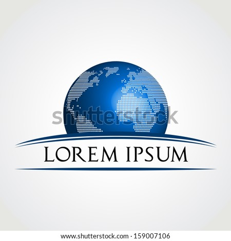 Globe symbol. Vector illustration. - stock vector
