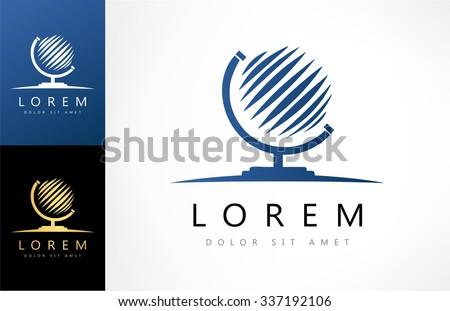 Globe symbol. Vector logo. - stock vector