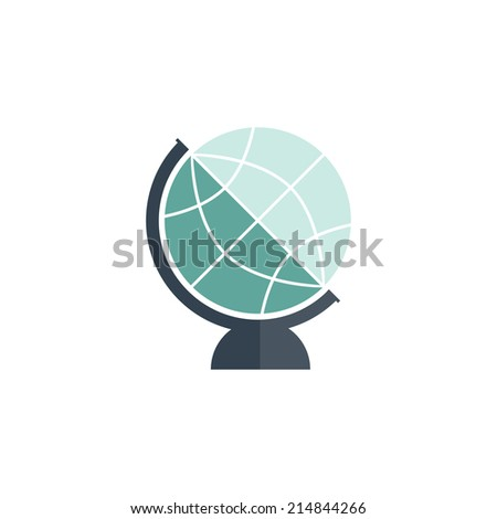 Globe vector icon. Flat icon. Vector illustration - stock vector