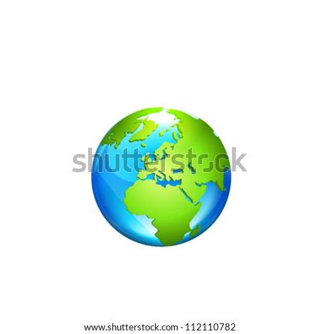 Globe. Vector Illustration - stock vector