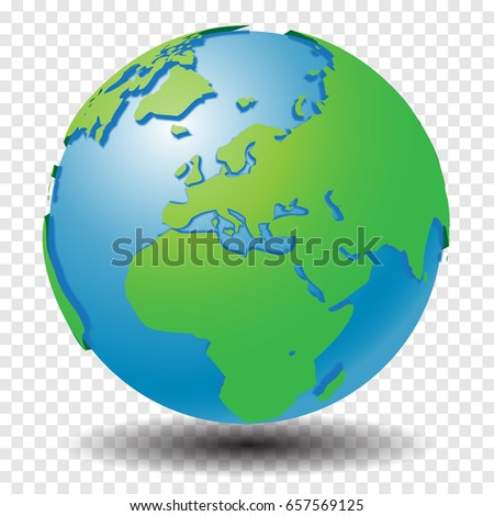 Globe world map show middle east stock vector 657569125 shutterstock globe with world map show middle east and europe region with smooth vector shadows on gumiabroncs Choice Image