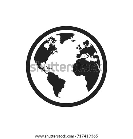 Globe world map vector icon round stock vector 717419365 shutterstock globe world map vector icon round earth flat vector illustration planet business concept pictogram gumiabroncs Gallery