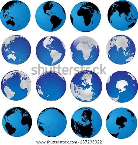 globes - stock vector