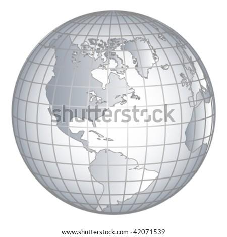 Globus europe africe - stock vector