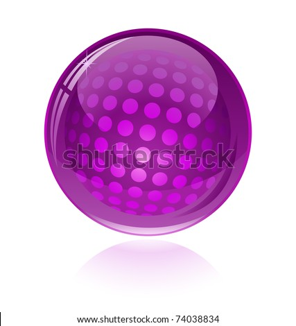 Glossy abstract sphere - stock vector