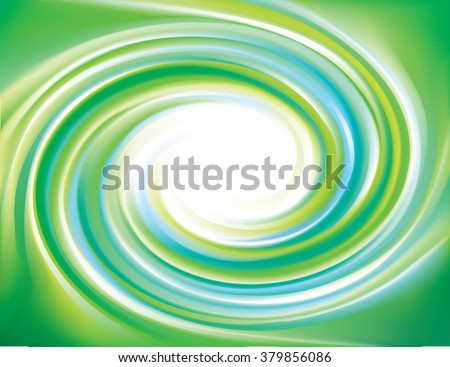 Glossy art shiny creative mix wavy eddy jade bio vert aqua radial curvy fond with space for text in light white center of funnel. Fluid pure peppermint caramel vivid cool deep malachite mint color - stock vector