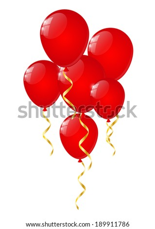 Glossy balloons on white background - stock vector