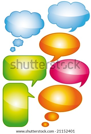 Glossy bubbles tags vector and isolated.