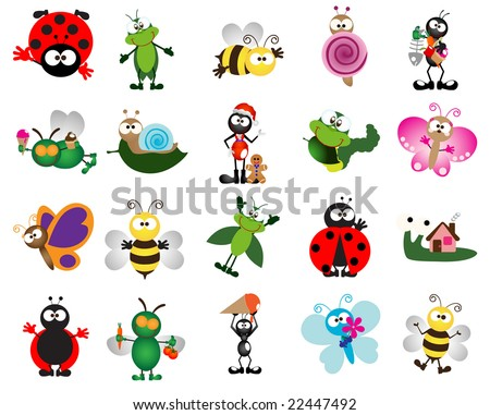 Glossy bug icons - Part 2 (vector)