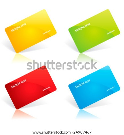 Glossy business card templates stock vector 24989467 shutterstock glossy business card templates reheart Choice Image