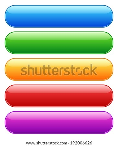 glossy button banner elements - stock vector