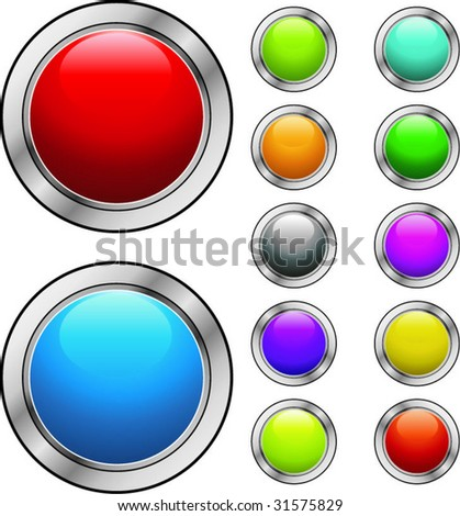 glossy button for web