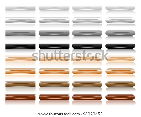 glossy  buttons - stock vector