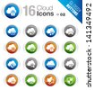 Glossy Buttons - Cloud computing Icons - stock photo