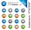 Glossy Buttons - Soccer Icons - stock vector