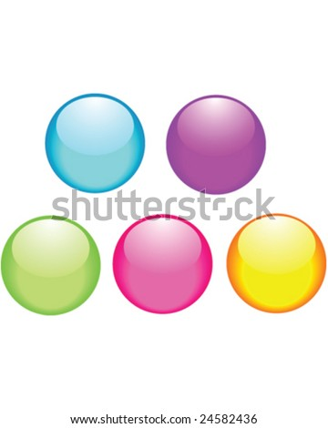 glossy buttons - vector illustration