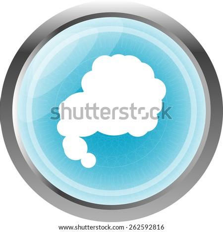 Glossy cloud web button icon - stock vector