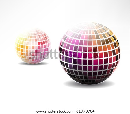 Glossy colorful abstract globe