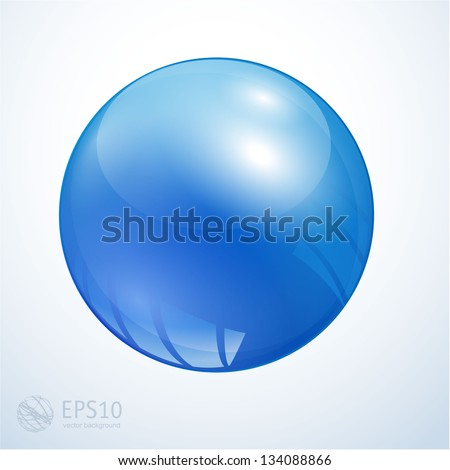 Glossy colorful abstract globe. Vector. - stock vector