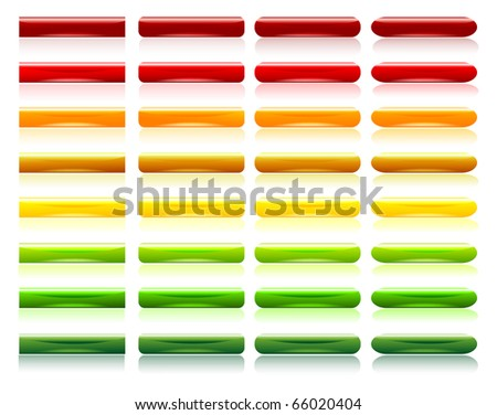 glossy colorful buttons - stock vector