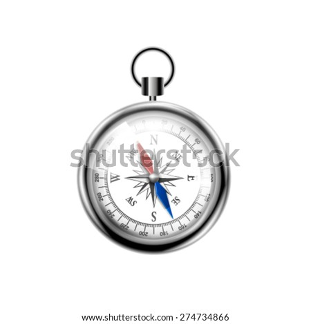 Glossy Compass. Vector - stock vector