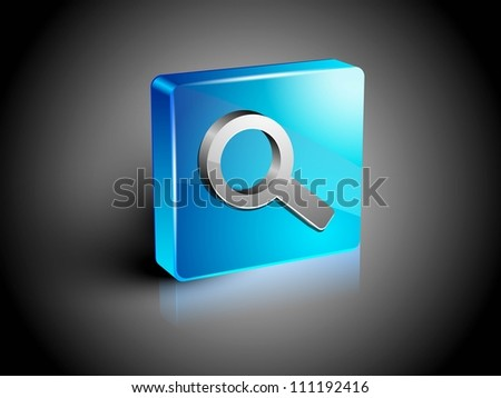 Glossy 3D web 2.0 search symbol icon set. EPS 10. - stock vector
