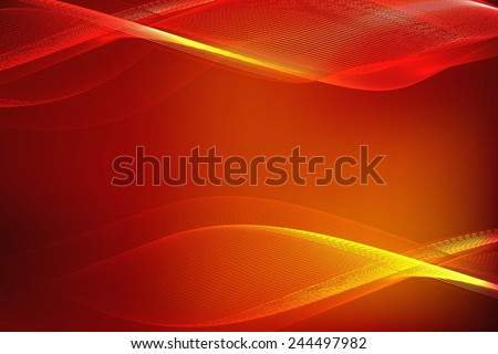 Glossy dotted wave abstract background. abstract red background of glowing lines - stock vector