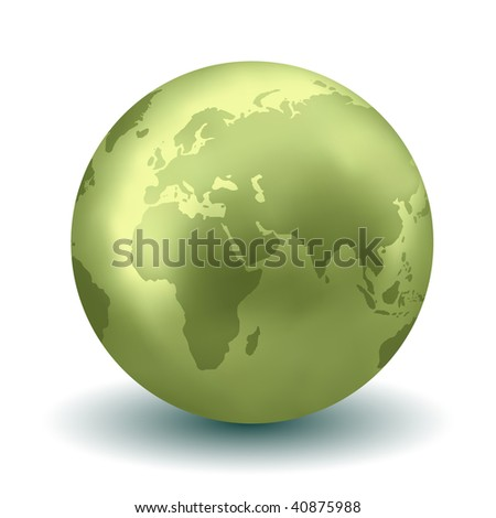 Glossy Earth Globe (Vector)