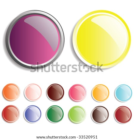 glossy editable vector buttons