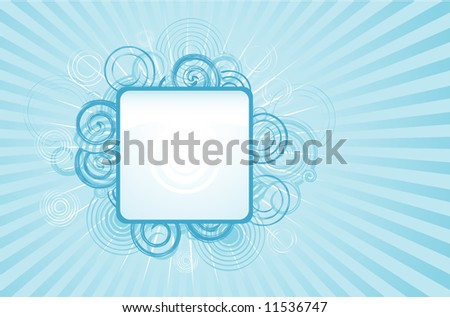 Glossy grunge glamour design background with frame - stock vector