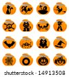Glossy Halloween icons - Part 3 (vector) - stock photo