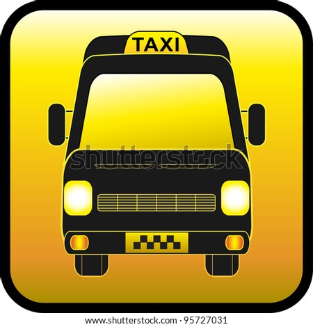glossy icon, sign of cargo and passenger taxis
