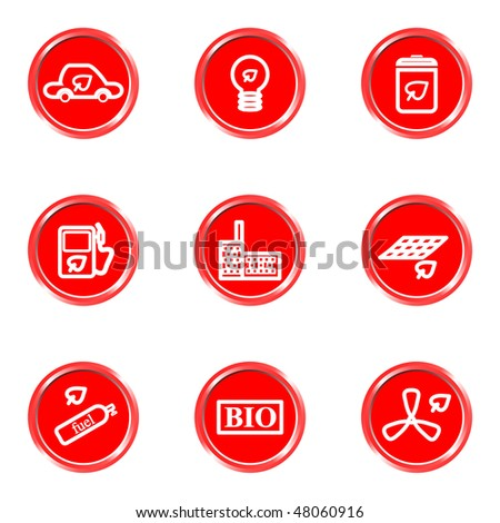 Glossy icons set 24 (see other in my portfolio). - stock vector