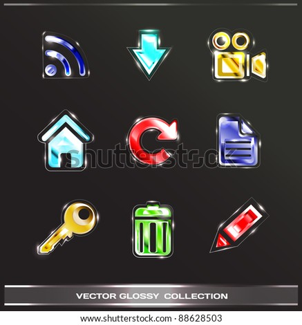Glossy icons vol.2 (color set)