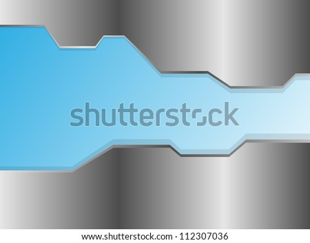 Glossy metal plate vector background - stock vector