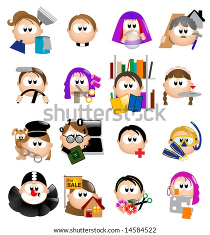 Glossy Occupation icons - Part 1 out of 7 (vector) - stock vector