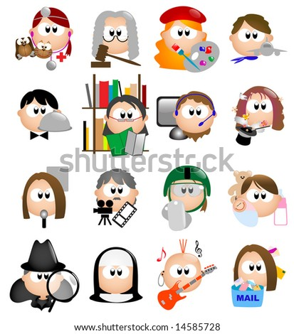 Glossy Occupation icons - Part 6 out of 7 (vector) - stock vector