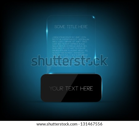Glossy plastic banner template with shiny glass, clean and modern design for infographics business or presentations - stock vector