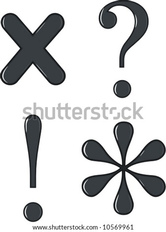 glossy punctuation vector - stock vector