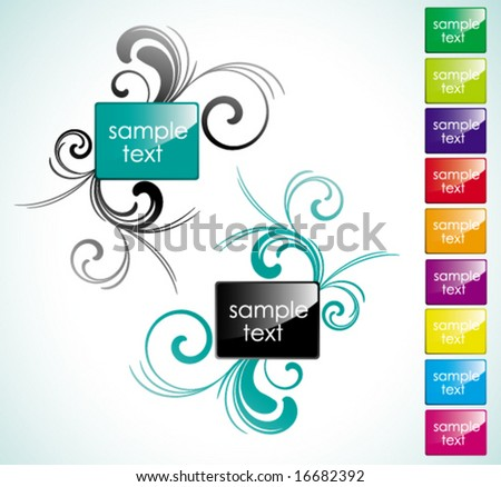 glossy rectangle - stock vector