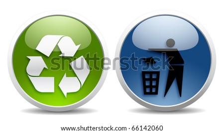 Glossy recycle buttons