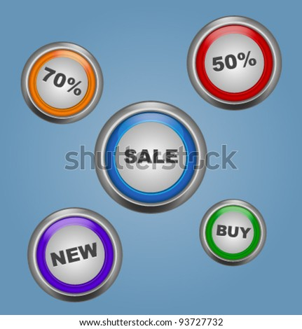 Glossy sale vector buttons - stock vector