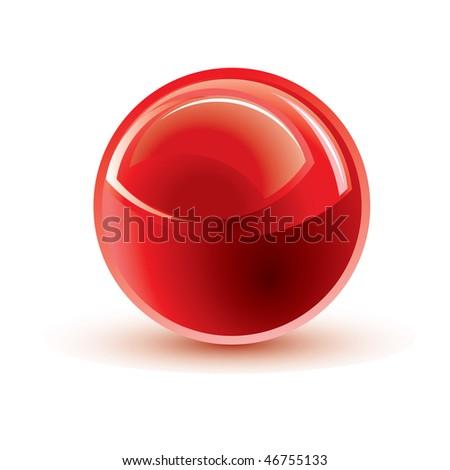 glossy shiny button - stock vector