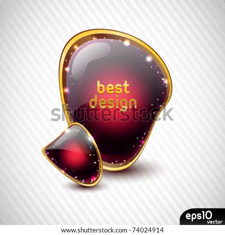 Glossy speech bubble (colorful banner) - stock vector