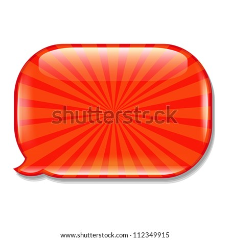 Glossy Speech Bubble, Isolated On White Background, Vector Illustration