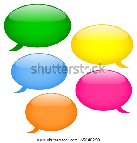 Glossy speech bubbles, eps10 - stock vector