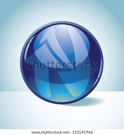 Glossy Spherical Arrow Alphabet Icon Symbol Letter N